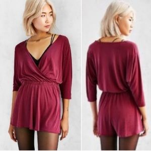 Urban Outfitters Silence + Noise faux wrap romper
